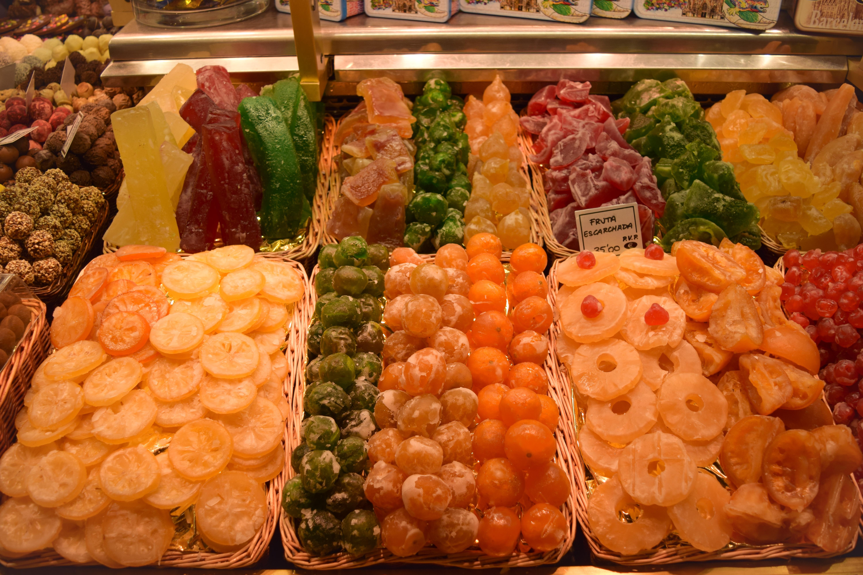 Saldainiai Barselonos turguje