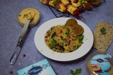 Bulguro salotos su baklažanais