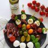 Mocarelos ir pomidorų vėrinukai