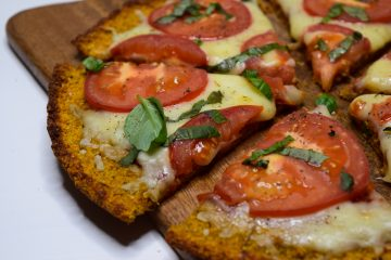 Saldžių bulvių pica