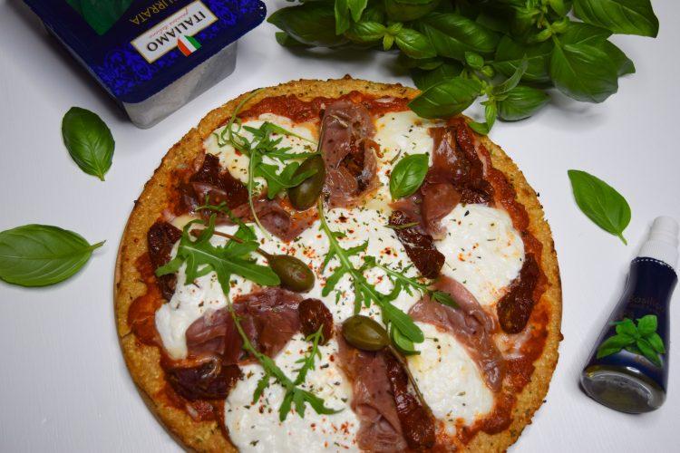 Kalafiorų pado pica su burrata