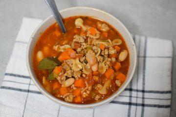 Makaronų sriuba su jautiena