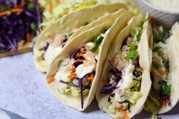 Tacos su kriliais ir daržovėmis