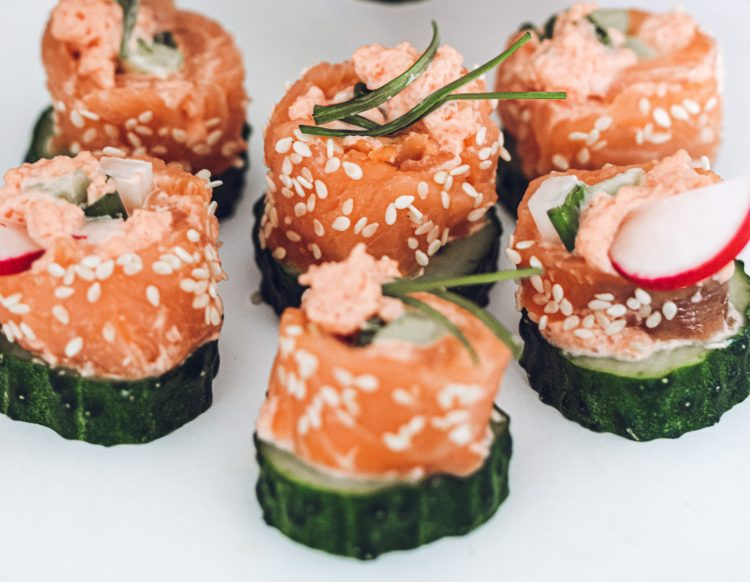 Sushi be ryžių