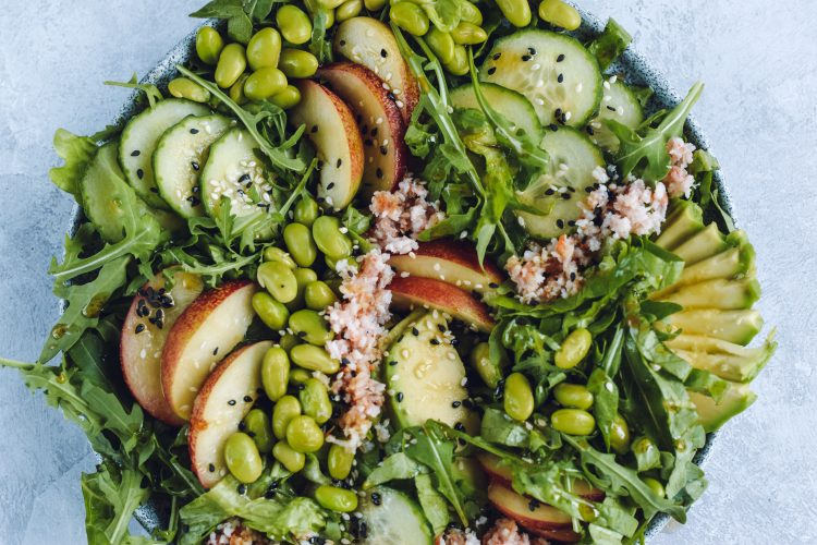 Žaliosios salotos su kriliais