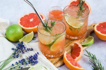 Gaivinantis greipfrutų limonadas